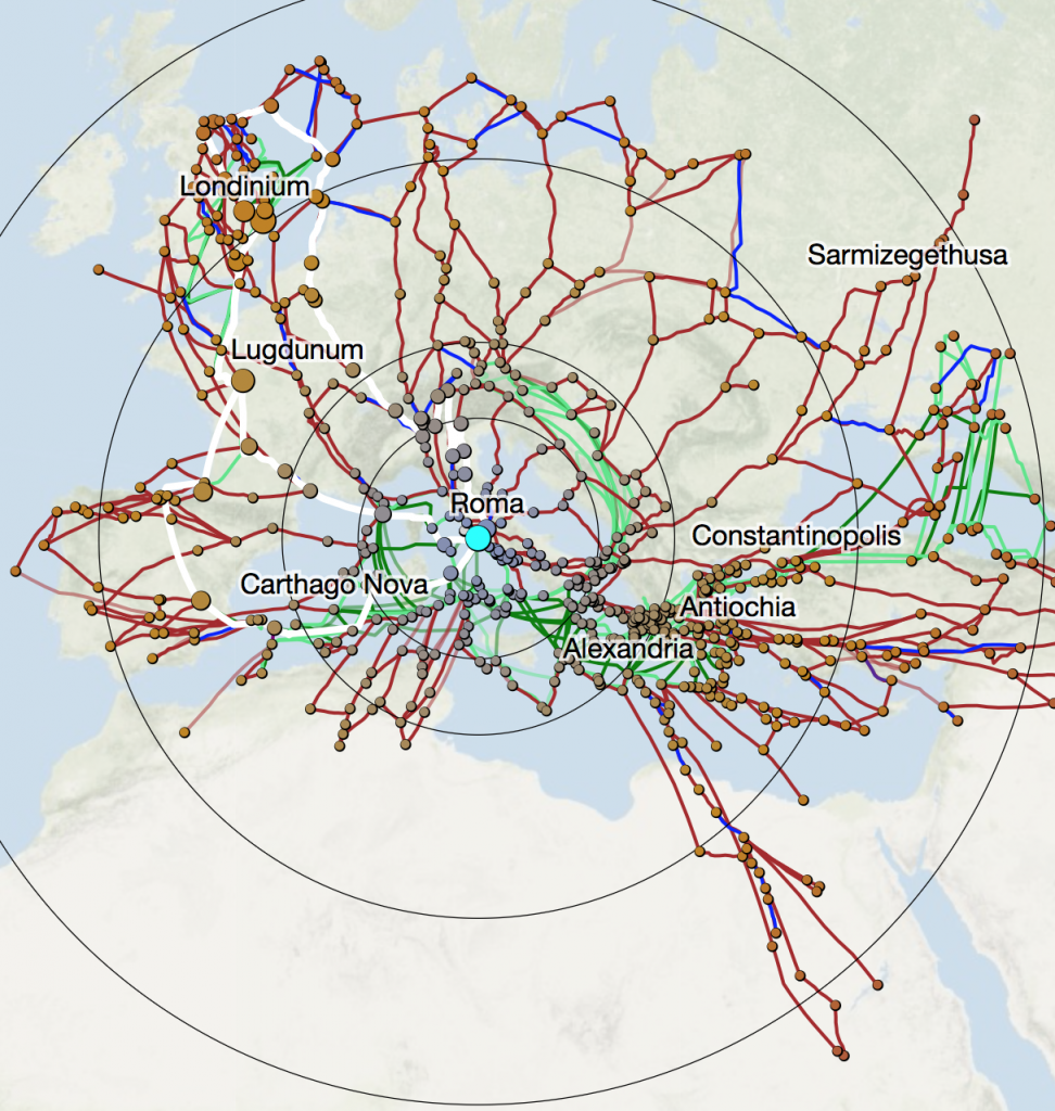 The new cartogram can be run from any site with any settings, and distorts the base routes as well as calculated routes.